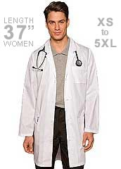 DI-83402-Dickies EDS 37 Inch Long Three Pocket Unisex Medical Lab Coat