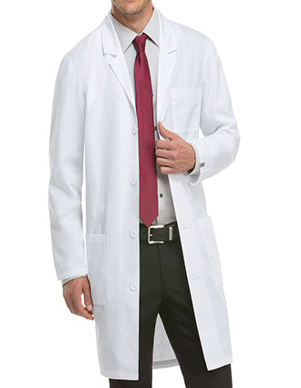 DI-83403-Dickies EDS 40 Inch Unisex Three Pocket Long Lab Coats