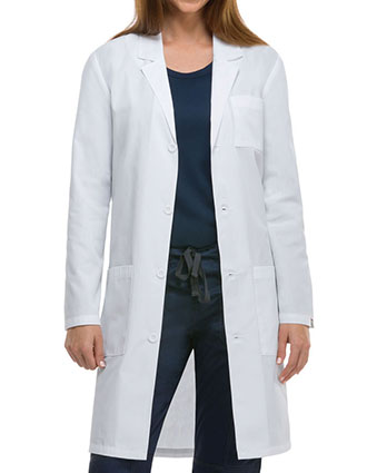 DI-83403A-Dickies EDS 40 Inch Unisex Antimicrobial Long Lab Coat
