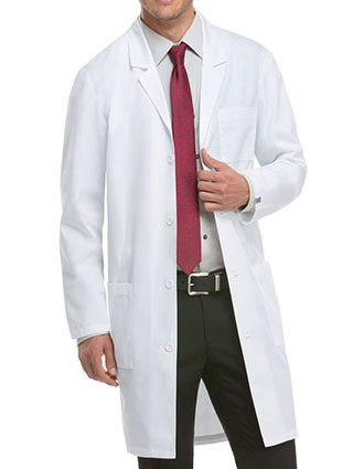 DI-83403AB-Dickies EDS 40 Inch Unisex Antimicrobial With Fluid Barrier Long Lab Coat