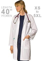 DI-83403-Dickies EDS Three Pocket 40 Inch Long Unisex Lab Coats
