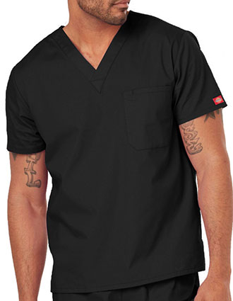 DI-83706-Dickies EDS Signature Unisex V-Neck Scrub Top