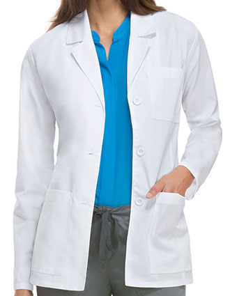 DI-84401A-Dickies EDS Professional Whites Women's 28 Inches Antimicrobial Consultation Lab Coat