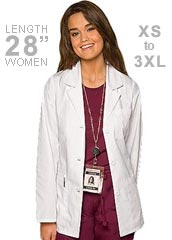 DI-84401-Dickies EDS 28 inch Three Pocket Missy Fit Consultation Coat