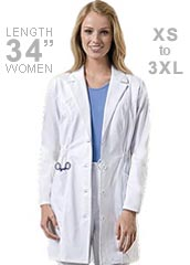 DI-84402-Dickies 34 Inch Three Pocket Missy Fit Medical Lab Coat
