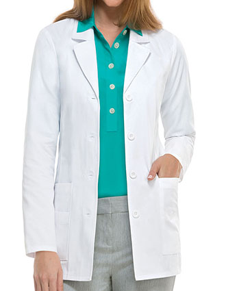 DI-84406-Dickies 29 Inch Women's Short Multipocket Missy Fit Lab Coat