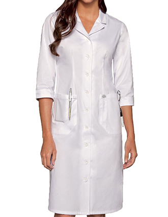 DI-84503-Dickies EDS Professional Whites 40 inch Women's Lab Dress