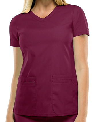 DI-85906-Dickies 26 Inch EDS Signature Women's V-Neck Scrub Top