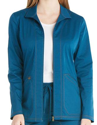 DI-DK302-Dickies Essence 27 inch Women's Zip Front Scrub Jacket