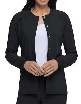 DI-DK305-Dickies EDS Essentials Women's Snap Front Warm-up Jacket