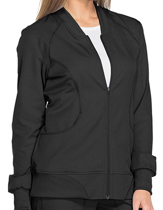 DI-DK330-Dickies Dynamix 25.5 Inch Women's Zip Front Warm-up Jacket