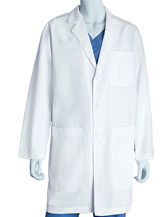GR-0914L-Grey's Anatomy 37 Inch Men's Five Pocket French Seam Long Lab Coat