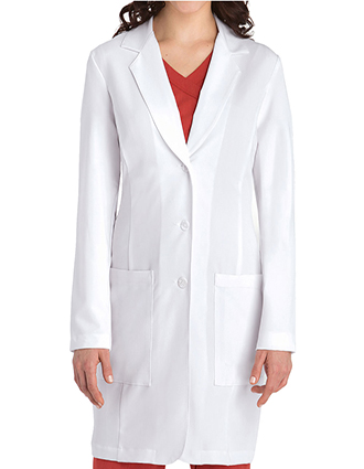 GR-2402-Grey's Anatomy 35 Inch Women's Three Pocket Stretch Medical Lab Coat