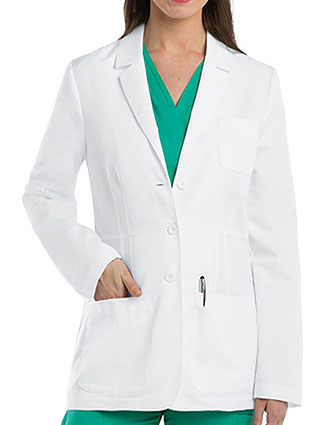 GR-4456-Grey's Anatomy 28 Inches Women's Five Pocket Waist Seam Short Lab Coat