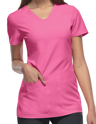 HE-20710-HeartSoul Women's Pitter-Pat Shaped V-Neck Scrub Top