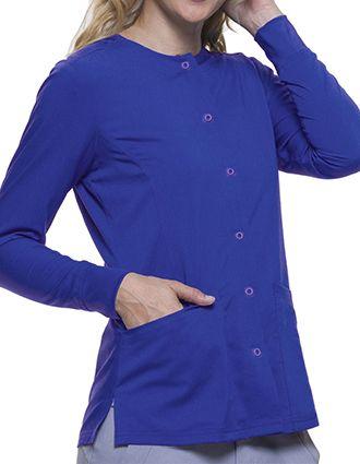 HH-5063-Healing Hands Purple Label Women's Snap Front Daisy Scrub Jacket
