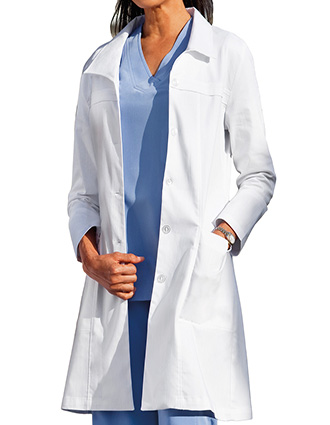 JO-C2237-Clearance Sale! Jockey Scrubs 36 inch Long Fashion Ladies Lab Coat