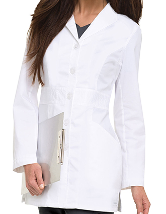 LA-3028-Landau 31.5 Inch Women's Smart Stretch Signature White Nursing Lab Coat