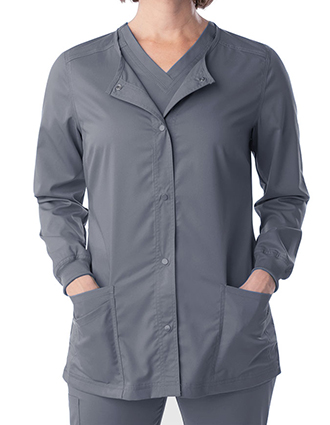 LA-3038-Landau Proflex Women's Snap Front Warm Up Solid Scrub Jacket