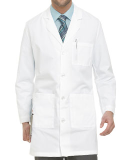 Landau Multiple Pockets 37 inch Men Protective Lab Coat