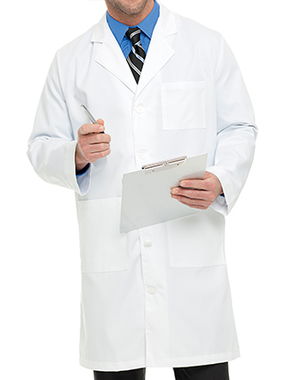 LA-3139-Landau 40.5 Inch Men's Twill Knee Length Long Medical Lab Coat