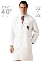 LA-3139-Landau 40.5 inch Twill Knee Length Mens Long Medical Lab Coat