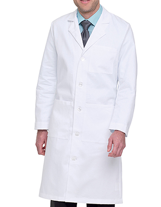 LA-3140TW-Landau 43.5 inch Three Pockets Twill Full Length Men Long Medical Lab Coat