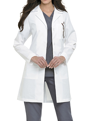 LA-3155-Landau Uniforms Women Three Pockets 39 inch Long Medical Lab Coat