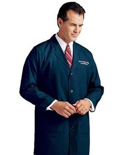 Landau 35 inch Three Pockets Men Colored Long Medical Lab Coat