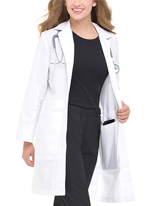 LA-3165-Landau 36.75 Inch Women's Full Length White Notebook Lab Coat