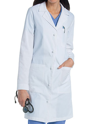 LA-3172-Landau 36.25 Inch Women's Knot Button Lab Coat