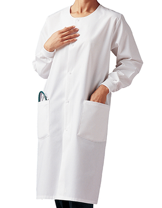 LA-3178-Landau Unisex 41 inch Two Pockets Cover White Medical Lab Coat