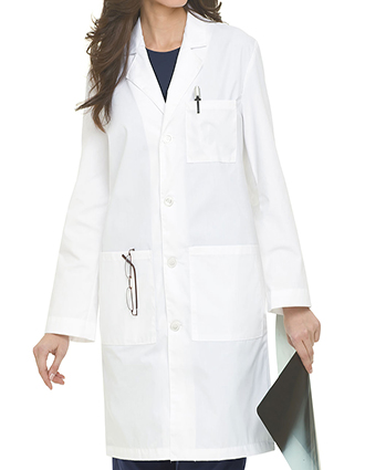 LA-3187-Landau 39 Inch Unisex Three Pocket Plain Back Long Lab Coat