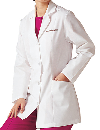 LA-3194-Landau Women 31.5 inch Two Pockets Short Lab Coat