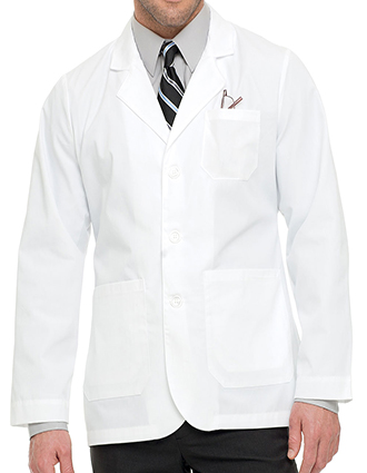 LA-3224TW-Landau 30.75 Inch Men's White Twill Consultation Lab Coat
