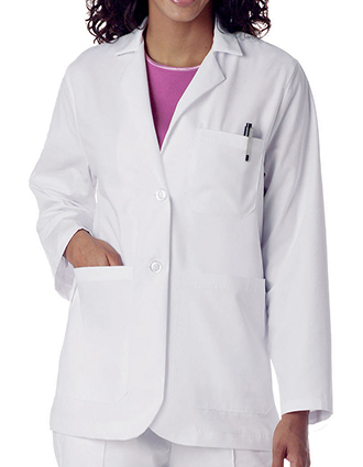 LA-3230-Landau Uniforms 28.5 Inch Consultation Women White Medical Lab Coat