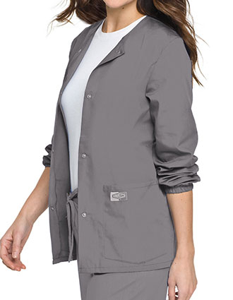 LA-75221-Landau Scrubzone 28 Inch Women Snap Front Warm Up Jacket