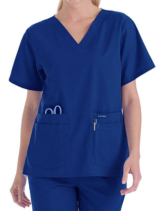 LA-8219-Landau 27.25 Inch Women's V-Neck Nurse Scrub Top