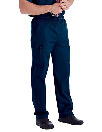 LA-8555-Landau Scrubzone 30 Inch Men's Elastic Waist Medical Scrub Pants