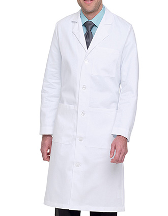 LA-C3140TW-Clearance Sale! Landau 43.5 inch Three Pockets Twill Full Length Men Long Medical Lab Coat