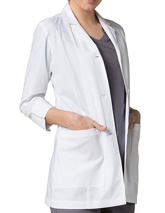 MA-7126-Maevn 29 inch Red Panda Women's Vented Back Three Quarter Sleeve Lab Coat