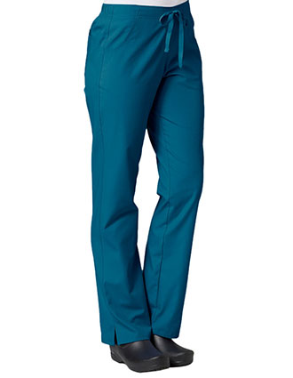 MA-9716-Maevn 30.5 Inch Women's Half Elastic Waist Straight Leg Pant