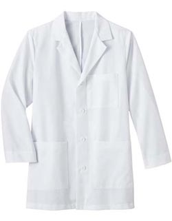Meta 34 inch Long Three Pocket Mens Medical Lab Coat