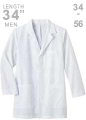 ME-1168-Meta 34 inch Long Three Pocket Mens Medical Lab Coat