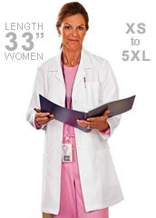 ME-15000-White Swan Meta 33 inch Ladies Medical Lab Coat