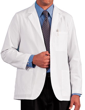 ME-15103-White Swan Meta 30 inch Men's Consultation Lab Coat