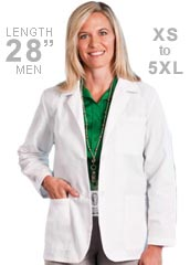ME-15104-White Swan Meta 28 Inch Three Pocket Womens Consultation Coat