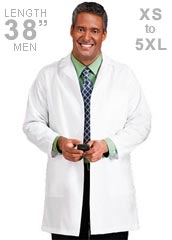 ME-15112-White Swan Meta 38 inch Men Long Medical Lab Coat