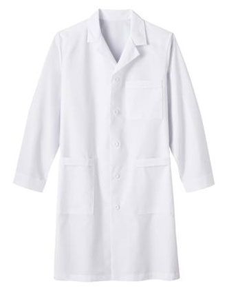 ME-17020-White Swan Meta 39 inch Nano-Tex Men Medical Lab Coat
