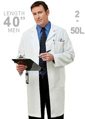 ME-267-White Swan Meta 40 inch Men White Lab Coat